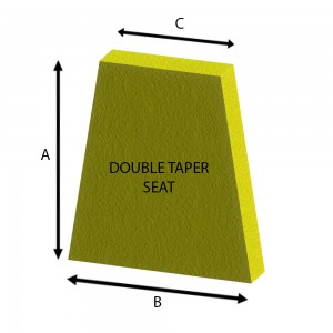 Double Taper Seat